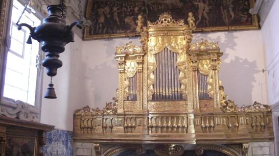 Órgano dorado Museo de Arte Sacro Catedral Oporto