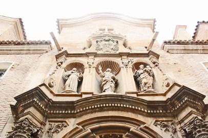 Portada barroca esculturas Convento Verónicas Murcia