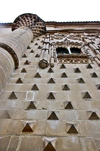 Fachada motivos gótico isabelino Palacio Jabalquinto Baeza
