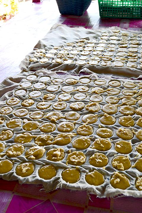 Pasteles de coco molde Tailandia