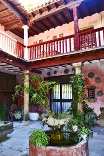 Patio hispanoarabe en la Casa Museo Andalusi