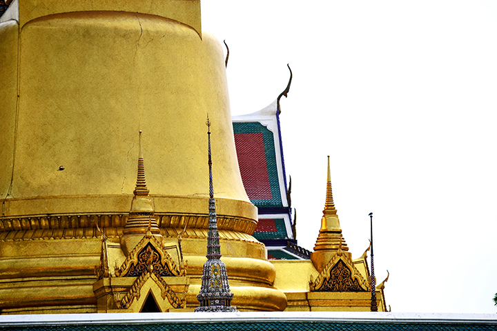 Gran chedi dorado Palacio Real Bangkok