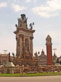Monumento fuente Plaza España Montjuïc Barcelona