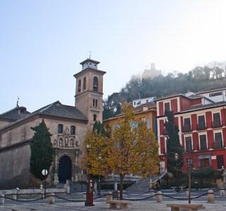 Plaza Nueva Iglesia Santa Ana Granada