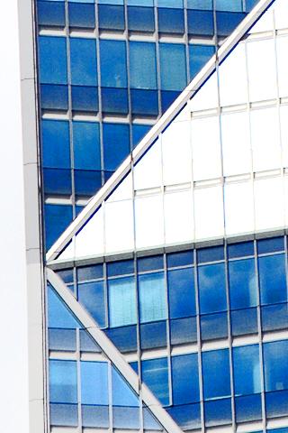 Líneas geometría cristal ediicios rascacielos La Défense París