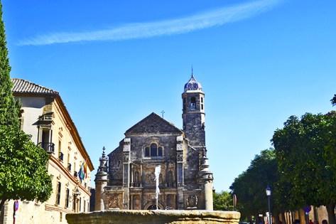 Fachada panorámica Iglesia El Salvador Úbeda Jaén