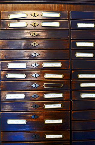 Buzones madera Museo Alemán Emigrantes Bremerhaven