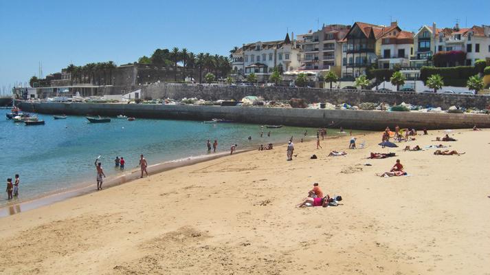 Playa arena costa Cascais Lisboa Portugal