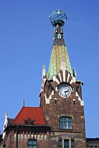 Dom pod Globusem torre Art Nouveau Cracovia