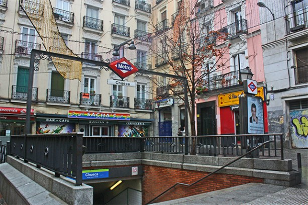 Parada metro Chueca barrio Gay Madrid