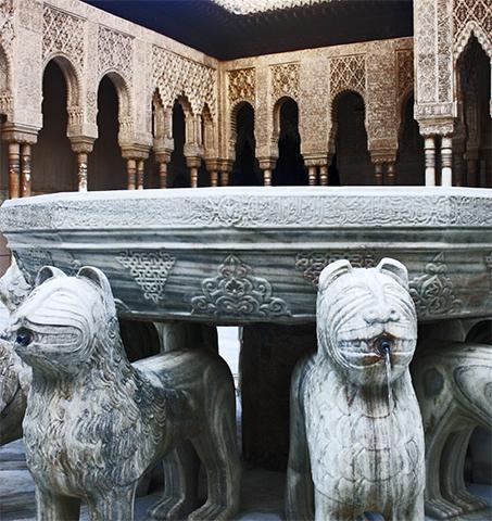 Fuente patio leones Ahambra Granada