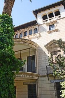Fachada neoclásica Palacio Rubalcava Orihuela Alicante