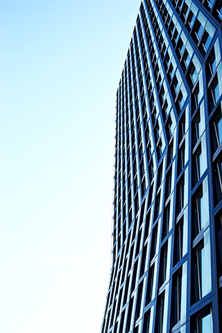 Rascacielos cubierta cristal textura Reeperbahn Hamburgo