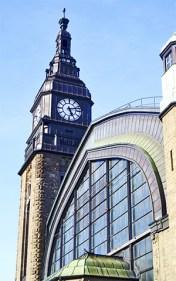 Torre reloj estación trenes Hamburgo