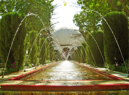 Chorros agua Parque Municipal Centro Visitantes Elche