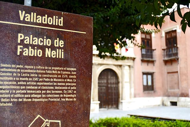 Cartel anunciador Palacio Fabio Nelli Valladolid