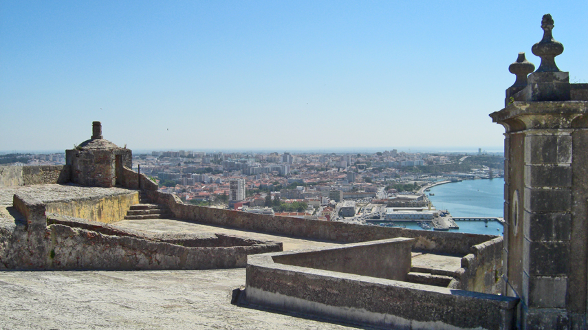 Vista general Castillo de San Felipe Setúbal