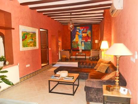Sala interior per a relaxar-se en El Capritx de la Portuguesa