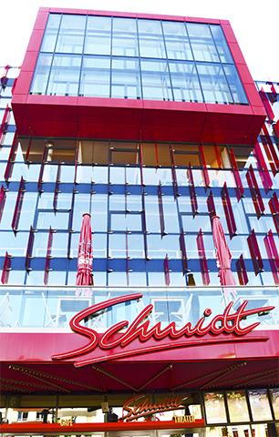 Fachada rosa teatro Schmidt Reeperbahn Hamburgo