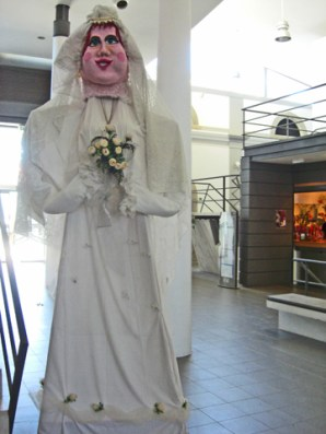 Muñeca gigante boda Evora Portugal