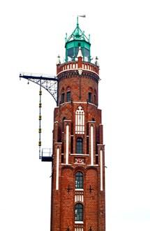 Faro clásico ladrillo rojo Bremerhaven