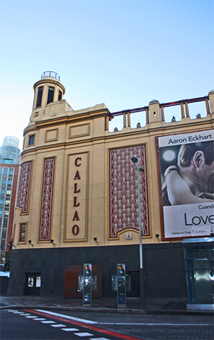 Cines Plaza Callao Gran Vía centro Madrid