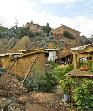 Casa típica bereber adobe Valle Ourika Marruevos