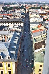 Vistas Florianska torre Basílica Santa María Cracovia