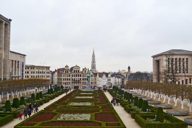Vistas jardín Mont des Arts Bruselas