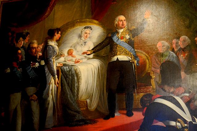 Cuadro nacimiento Luis XIV castillo Chenonceau Francia