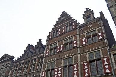 Fachadas típicas centro histórico Gante Bélgica
