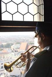 Trompetista 12 mañana Basílica de Santa María Cracovia
