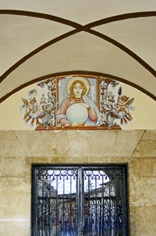 Decoración ángel puerta Convento San Onofre el Nuevo Xàtiva