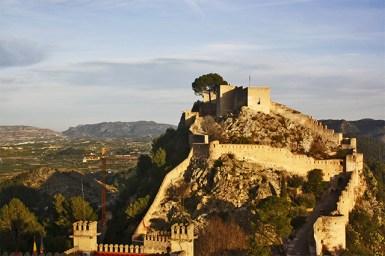 Muralla fortaleza Castillo Xàtiva Valencia
