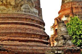 Chedis templos sagrados Ayutthaya Tailandia