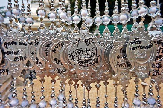 Amuletos plata Templo Blanco Chiang Rai