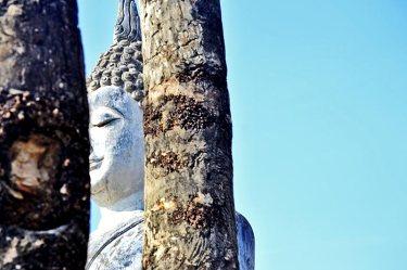 Buda Phra Attharot blanco escondido Sukhothai