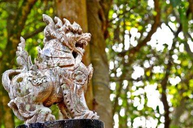 Dragón estatua Casa Negra Chiang Rai