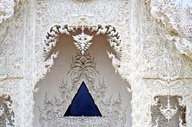 Decoración excéntrica gótica Templo Blanco Tailandia