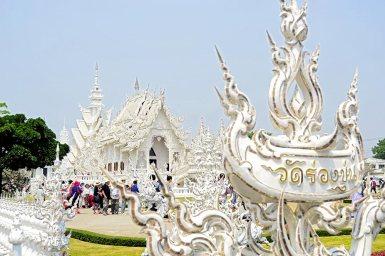 Espectacular panorámica Templo Blanco Chiang Rai