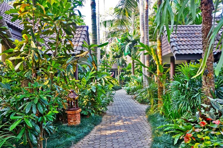 Jardín exuberante resort hotel Chiang Rai