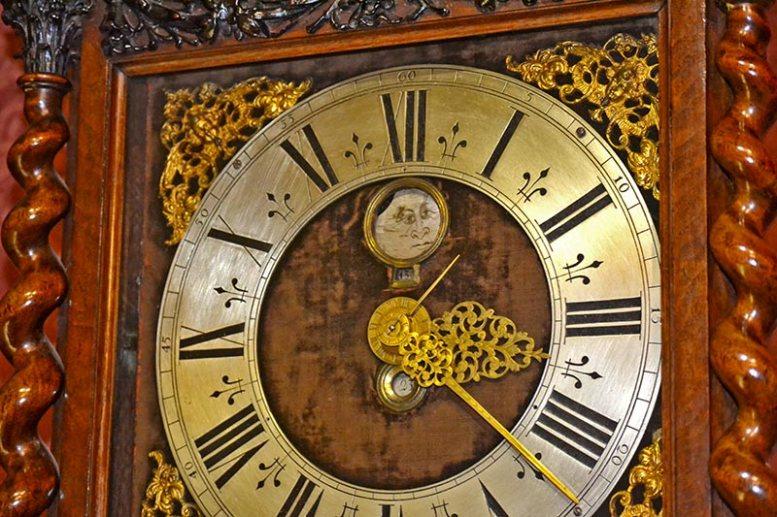Reloj pared agujas oro Museo del reloj Zaanse Schaans