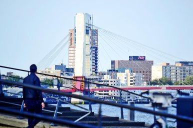 Vistas puente de Erasmo Rotterdam
