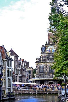 Plaza del Mercado canal Alkmaar público Mercado del queso