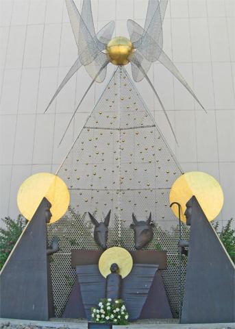 Belén modernista Santuario Fátima