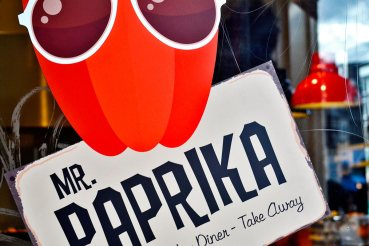 Cartel Mr. Paprika comida para llevar centro Amsterdam