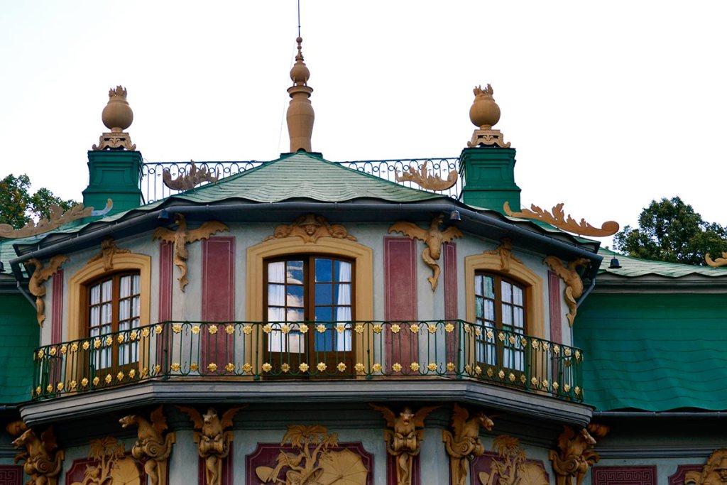 Fachada tejado decoración Art Nouveau Pabellón Chino Palacio Drottningholm Suecia
