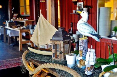 Objetos decoración marinos vivienda típica sueca Fjaderholmarna