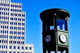Réplica semáforo Daimler Chysler Postdamer Platz Berlín