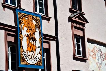 Cartel ilustración carnaval fachada Rottweil